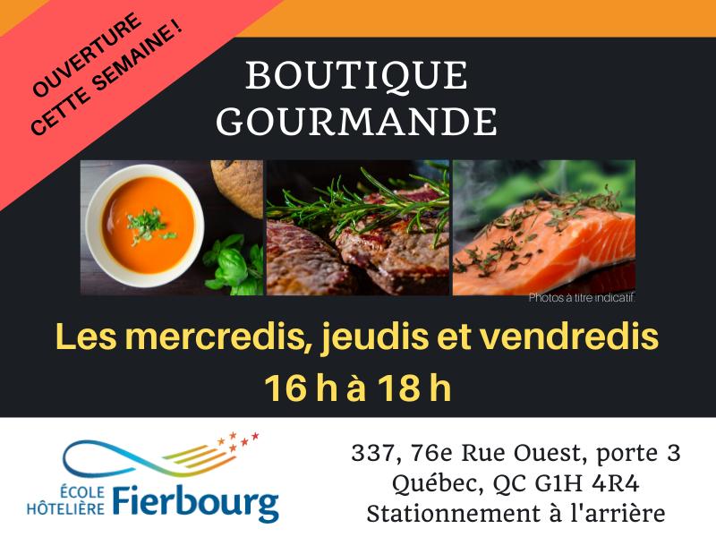 Ouverture de la Boutique gourmande à l'École hôtelière Fierbourg !